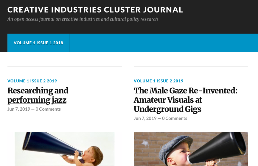 Research Spotlight: Creative industries Research Cluster Journal
